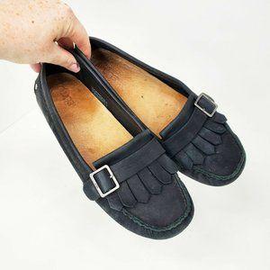 Ugg 1007675 Dempsey Black Moccasins Driving Loafer